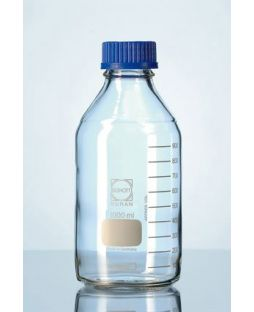 Lab bottle, Schott, clear, with cap & pouring ring