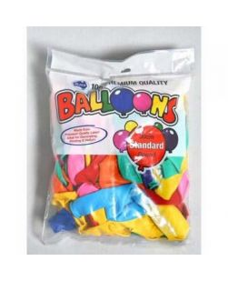 Balloons, small, assorted colours, pkt/100