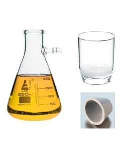 Vacuum filtration, glass crucible, Por 3, 1000ml flask