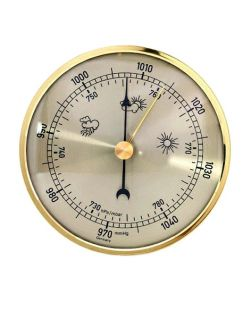 Barometer, aneroid gilt, 65mm