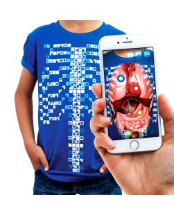 Curiscope Virtual Tee, an augmented reality T-shirt