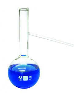 Flask, Distilling, Borosilicate Glass, with Side Tube, 100ml