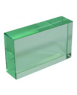 Glass slab,  115 x 60 x 18mm thick.