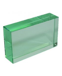 Glass slab,  75 x 50 x 18mm thick