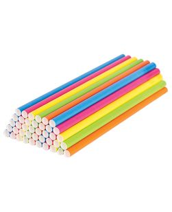 Paper straws, coloured, pack 500