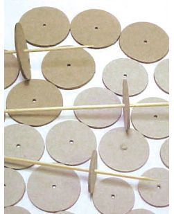 Wheels, cardboard, pack 100