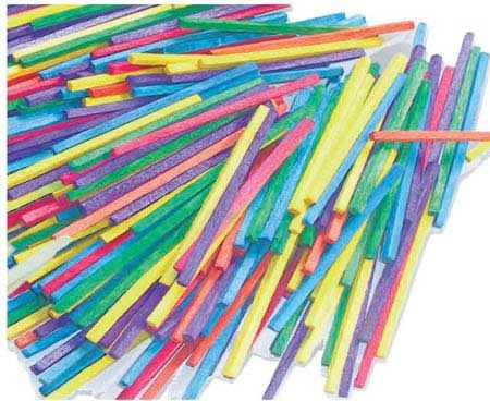 Match Sticks, coloured, pkt/5000