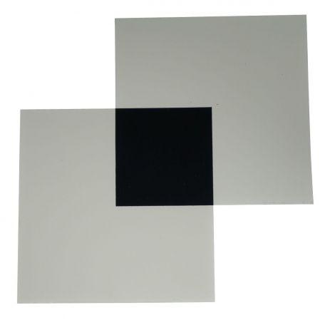 Polaroid filters,  100 x 100mm square, pair.