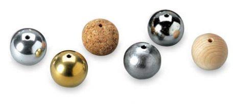 Balls, metal, set/6, 25mm