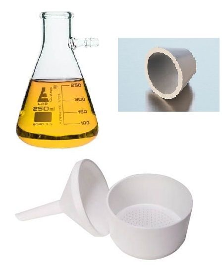 Vacuum filtration, buchner funnel, PP, 500ml Schott flask