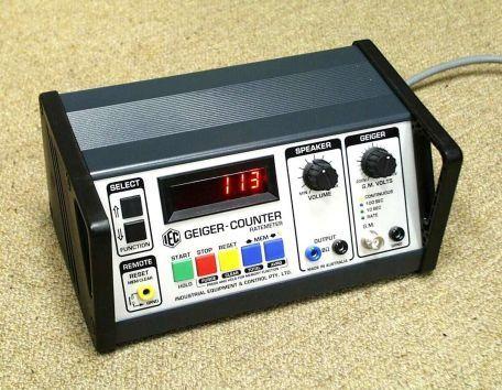 Geiger counter, digital, mains powered