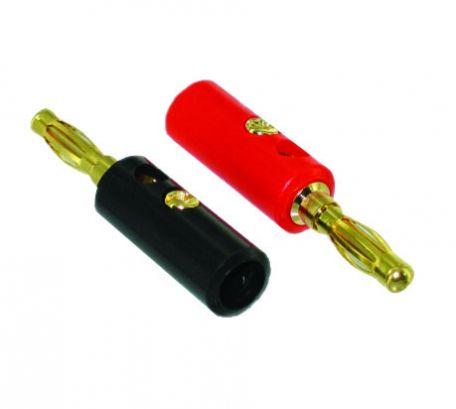 Banana plugs, 4mm stem, pk/10