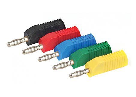 Banana plugs, 3 way stackable 4mm yellow, pkt/10