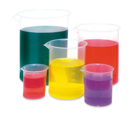 Beakers, polypropylene, set/5 (50, 100, 250, 500 & 1000ml)