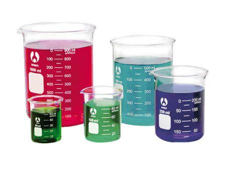 Beaker Bomex, boro glass,  400ml/dozen
