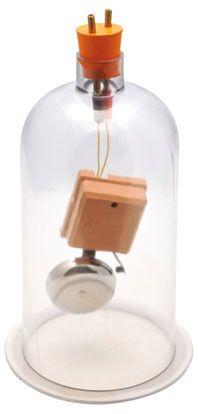 Sound in Vacuum bell jar, acrylic