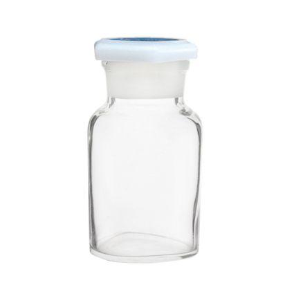 Reagent bottle, clear glass,  500ml, W/M, glass stopper