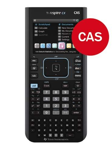 TI-Nspire CX CAS calculator with 3 year warranty