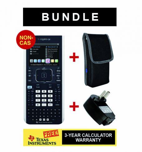 TI-Nspire CX NON-CAS + Wallet  + Warranty + USB Adaptor