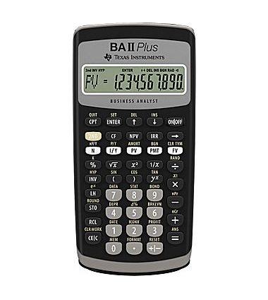 TI-BAII Plus calculator