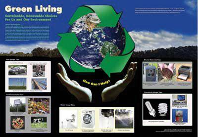 Poster, Green Living