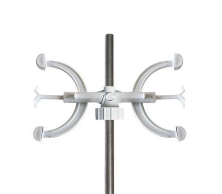 Burette clamp, PVC, double