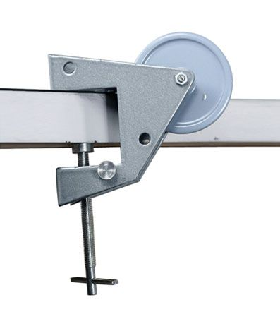 Pulley, vertical clamp, large, heavy duty