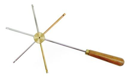 Conductivity Star, 5 metals, with handle