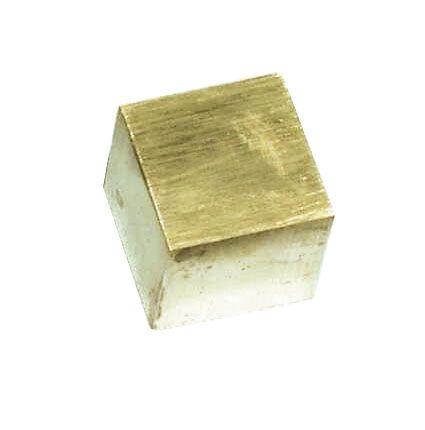 Cubes 1cm Brass