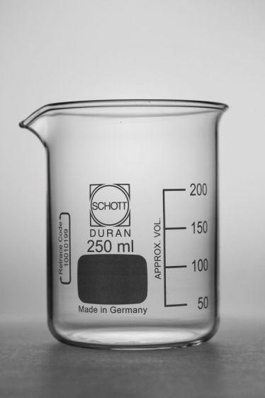 Beaker, Schott Duran, low form, borosilicate glass