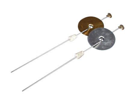 Deflagrating spoons aluminium cap/brass cup.