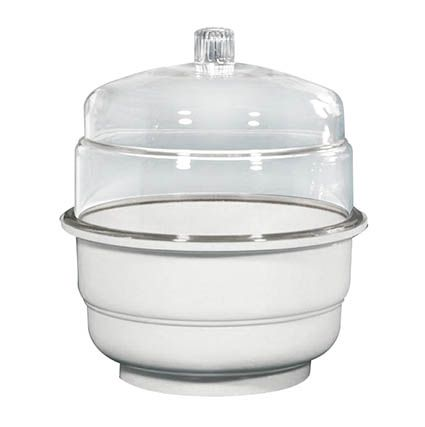 Desiccator, polycarbonate 250mm dia. with plate