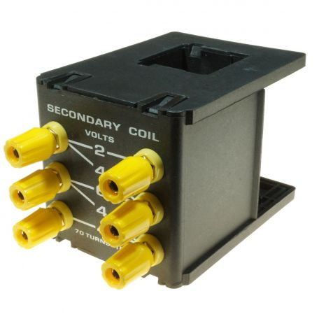 Transformer, dissectible low voltage tapped secondary.