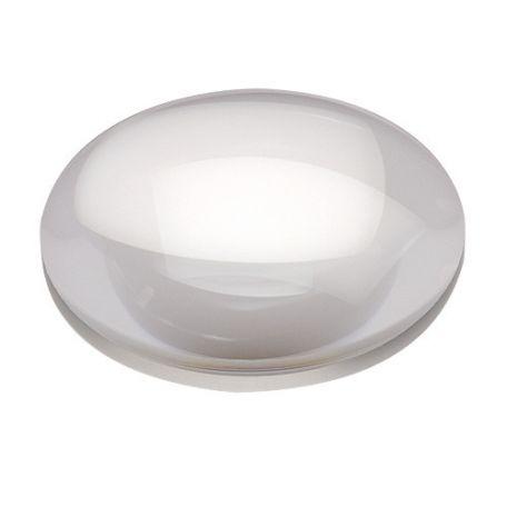 Lens, biconvex, 75mm dia,  10cm  F/L (large)