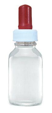 Dropping bottle, 100ml, clear glass, screw cap