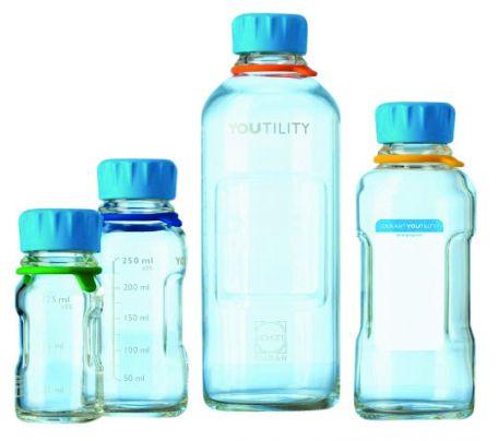 Youtility lab bottle, Schott, clear, 125ml, each