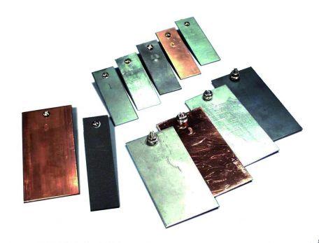 Electrodes,  Copper - 75 x 25 x 1.5mm