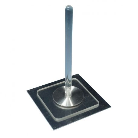 Electrophorus brass, 50mm dia. with handle & plate