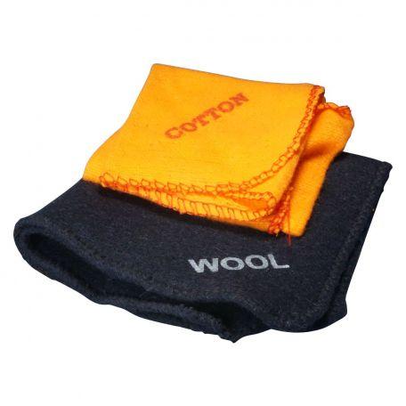 Electrostatic cloth, cotton flannelette & wool, set/2