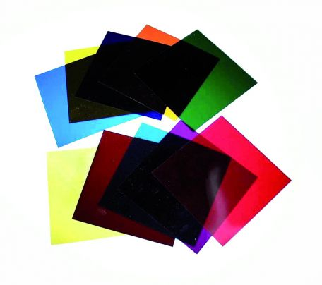 Filters, unmounted,  primary green - 100 x 100mm.