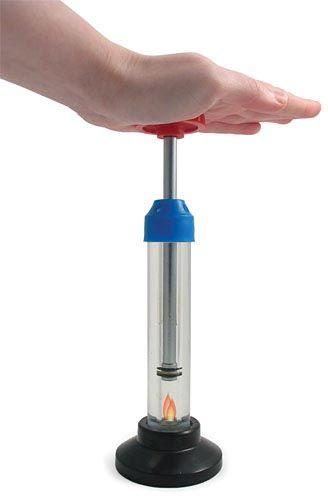 Fire syringe demo