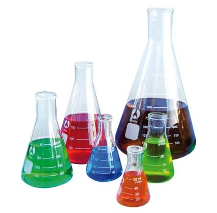 Flasks, Erlenmeyer (Conical), glass 1000ml