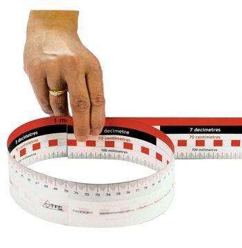 Flexible metre stick