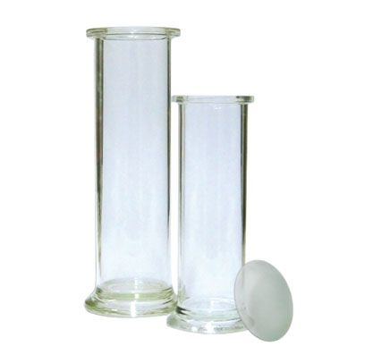 Gas jar, 200 x 50 mm, with lid