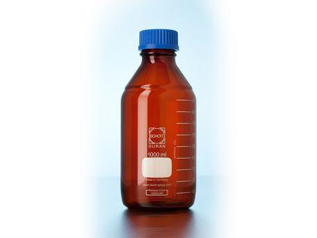 Lab bottle, Schott DURAN, amber, 100ml, 10 pack