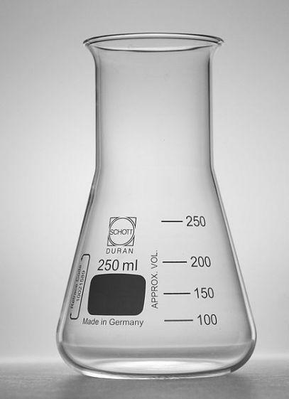 Erlenmeyer flask, Schott Duran, wide neck