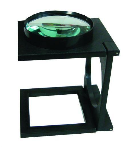 Magnifier, 2X, 105mm diameter viewer on stand