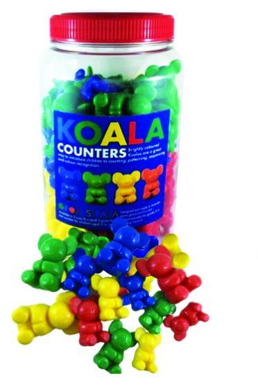 Koala Counters, jar of 120 mixed colours & sizes