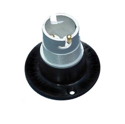 Lamp holder, plastic base, SBC - double contact