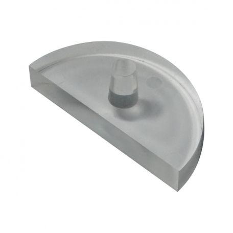 Light box spares,  prism, half round block, acrylic - 75mm